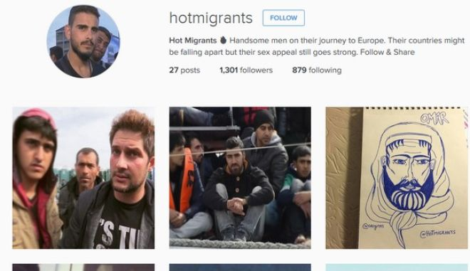 "Hot Migrants. Σάλος από λογαριασμό στο Instagram με ""καυτούς"" πρόσφυγες"