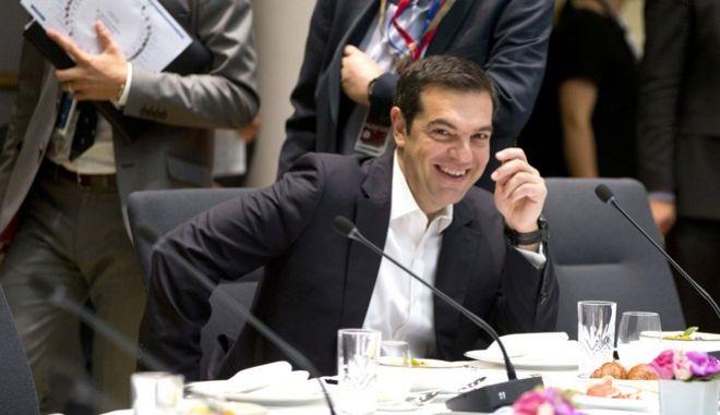 O πρωθυπουργός, Αλέξης Τσίπρας, στη Σύνοδο Κορυφής για το μεταναστευτικό