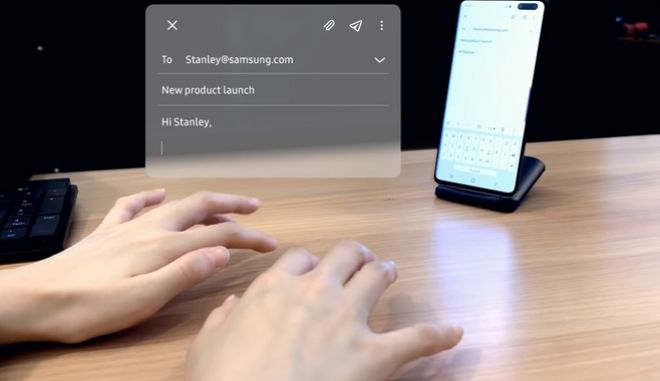 Samsung SelfieType: Το εικονικό πληκτρολόγιο αποκαλύπτεται στο CES 2020