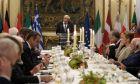 """Επίσημο Δείπνο προς τιμήν των Αρχηγών Κρατών που συμμετείχαν στην συνάντηση της """"Ομάδας Arraiolos"""" από τον Πρόεδρο της Δημοκρατίας Προκόπη Παυλόπουλου, την Παρασκευή 11 Οκτωβρίου 2019."""
