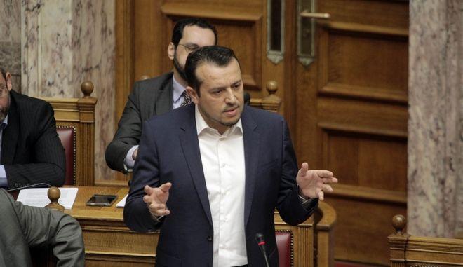 Συζήτηση επίκαιρων ερωτήσεων στην Βουλή την Παρασκευή 7 Απριλίου 2017. (EUROKINISSI/ΓΙΩΡΓΟΣ ΚΟΝΤΑΡΙΝΗΣ)