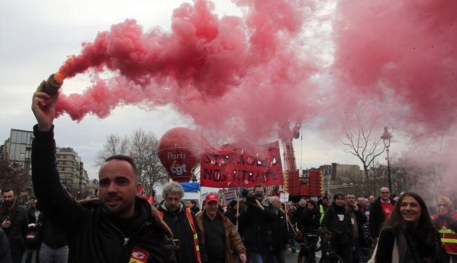 Διαδηλώσεις κατά της μεταρρύθμισης του συνταξιοδοτικού συστήματος