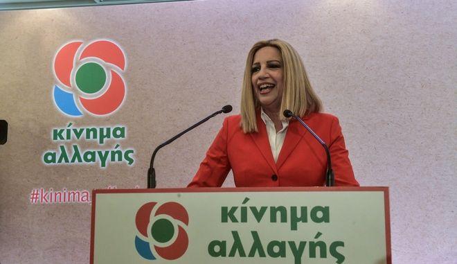 Ομιλία της Φώφης Γεννηματά σε στελέχη του κόμματός της