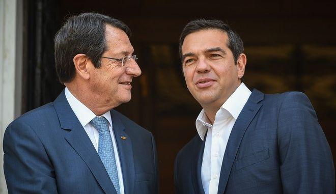 Συνάντηση του Πρωθυπουργού Αλέξη Τσίπρα με τον Πρόεδρο της Κύπρου Νίκο Αναστασιάδη