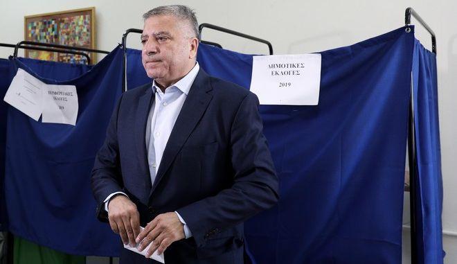 Ο υποψήφιος Περιφερειάρχης Αττικής Γιώργος Πατούλης ψήφισε στο 3ο Γυμνάσιο Αμαρουσίου