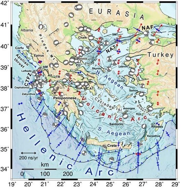 Σεισμοτεκτονικός χάρτης Ελλάδας