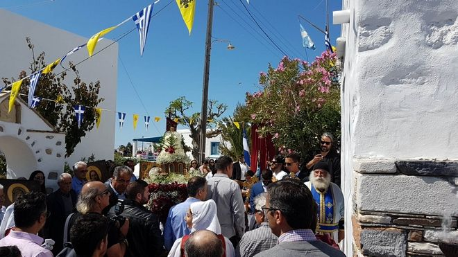 Περιφορά της εικόνας του Άι -Γιώργη στο Κουφονήσι