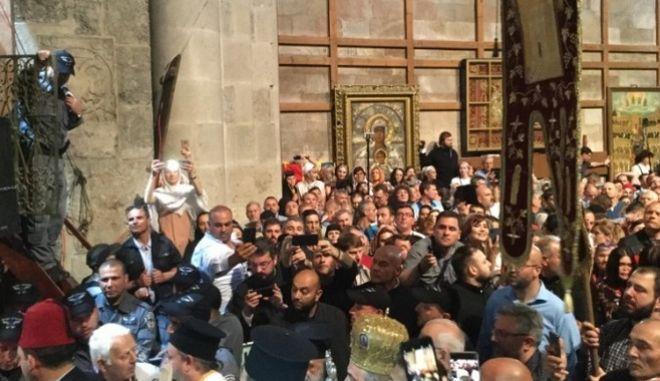 Ιεροσόλυμα - Τελετή αφής του Αγίου Φωτός