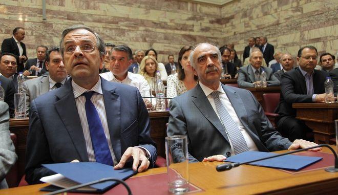 Συνεδρίαση της Κοινοβουλευτικής Ομάδας της Νέας Δημοκρατίας την Τετάρτη 8 Ιουλίου 2015. (EUROKINISSI/ΓΙΑΝΝΗΣ ΠΑΝΑΓΟΠΟΥΛΟΣ)