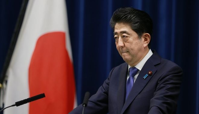 Japan's Prime Minister Shinzo Abe listens to a reporter's question during a press conference at the prime minister's official residence in Tokyo, Monday, Sept. 25, 2017. Prime Minister Abe announced Monday he will call a snap election for parliament's more powerful lower house for next month.  Abe said at a news conference that he will dissolve the chamber on Thursday when it convenes after a three-month summer recess. The election is to be held Oct. 22. (AP Photo/Shizuo Kambayashi)
