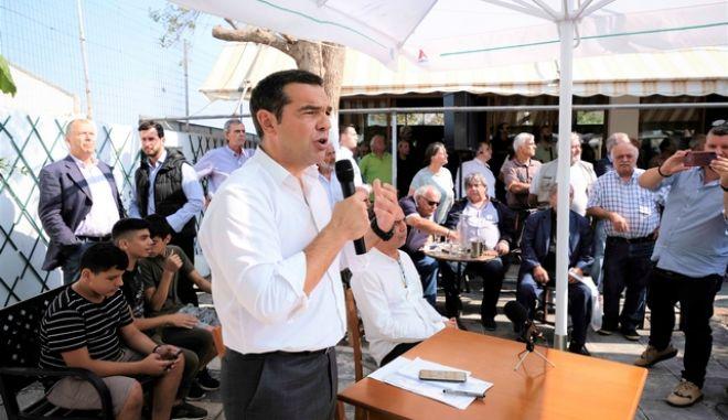 Περιοδεία του προέδρου του ΣΥΡΙΖΑ, Αλέξη Τσίπρα, στα Χανιά την Δευτέρα 21 Οκτωβρίου 2019. (EUROKINISSI/ΓΡΑΦΕΙΟ ΤΥΠΟΥ ΣΥΡΙΖΑ/ANDREA BONETTI)