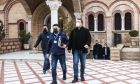 Ο Νίκος Χαρδαλιάς και ο Παναγιώτης Αρκουμανέας στην μητρόπολη Νεαπόλεως-Σταυρουπόλεως