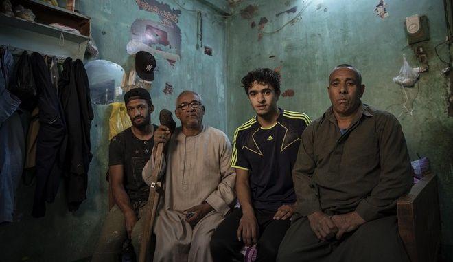 Κάτοικοι στην Αίγυπτο