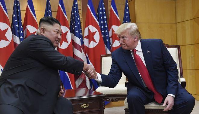 Ντόναλντ Τραμπ και Κιμ Γιονγκ Ουν