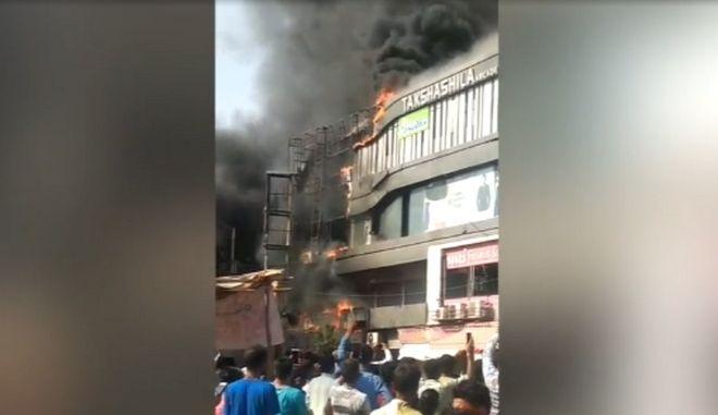 Εικόνα από την φωτιά στο εμπορικό κέντρο