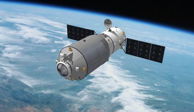 Τρισδιάστατη απόδοση του διαστημικού σκάφους της Κίνας Tianzhou-2