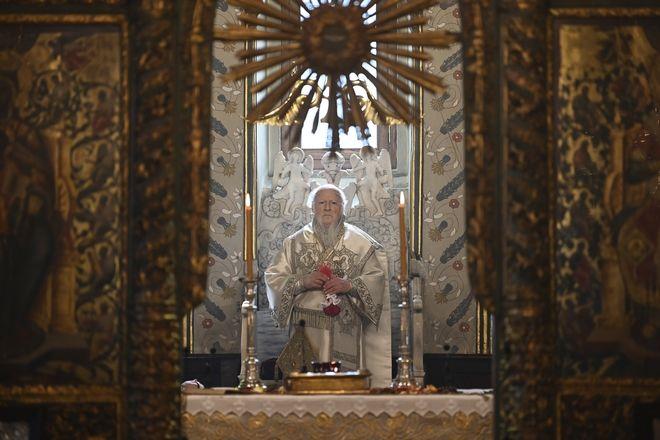 Ο Οικουμενικός Πατριάρχης Βαρθολομαίος.