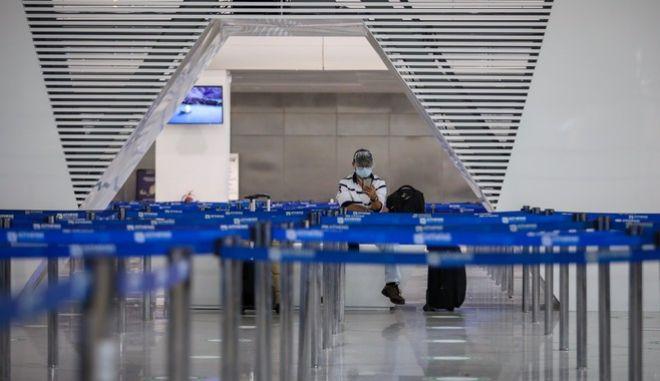Στιγμιότυπο από το αεροδρόμιο Ελ. Βενιζέλος.