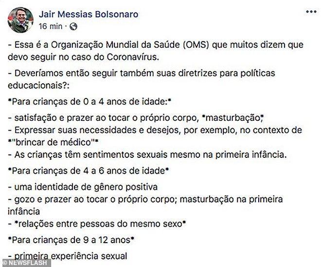 Η δημοσίευση του Bolsonaro