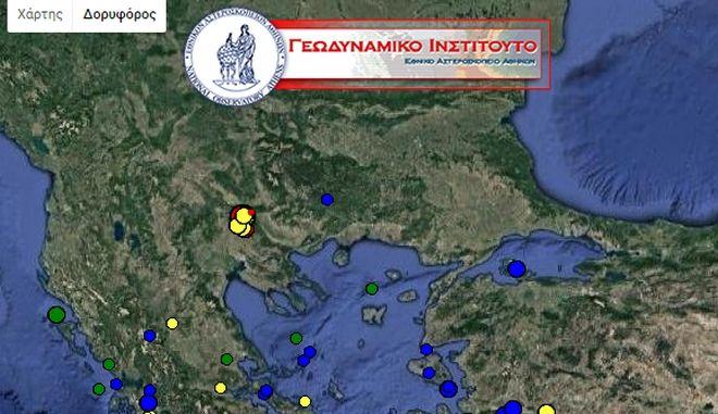 Σεισμός 4,7 Ρίχτερ βόρεια του Κιλκίς