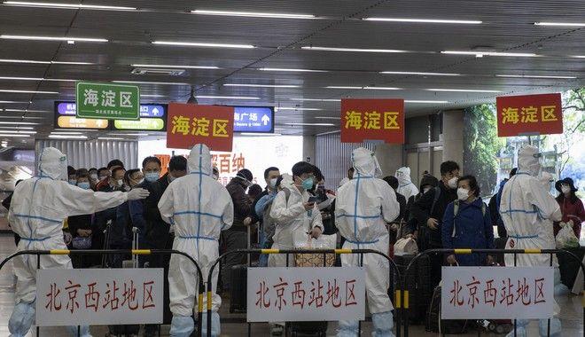 Αυστηροί έλεγχοι σε σιδηροδρομικό σταθμό της Ουχάν