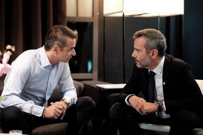 Συνάντηση του Πρωθυπουργού Κυριάκου Μητσοτάκη με το Δήμαρχο Θεσσαλονίκης Κώστα Ζέρβα
