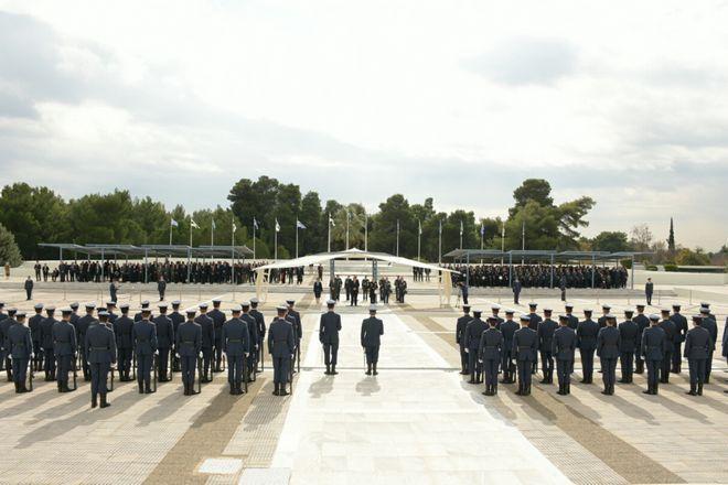 Στη τελετή για τον εορτασμό του Προστάτη της Πολεμικής Αεροπορίας Αρχάγγελου Μιχαήλ την Πέμπτη 8 Νοέμβρη 2018 .