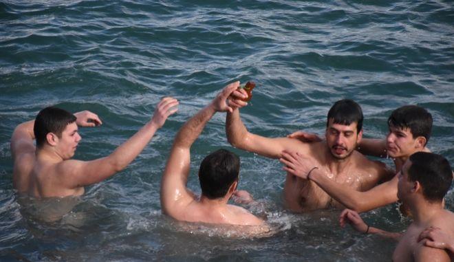 Ο Αγιασμός των Υδάτων στο λιμάνι της Νέας Κίου (Αργολίδα)