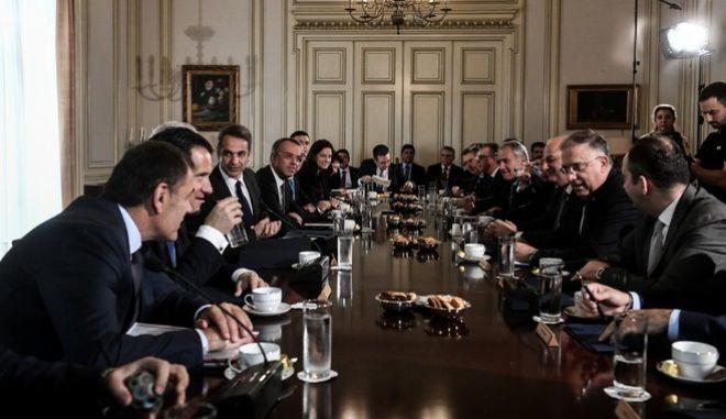 Συνεδρίαση του υπουργικού συμβουλίου, την Πέμπτη 31 Οκτωβρίου 2019.