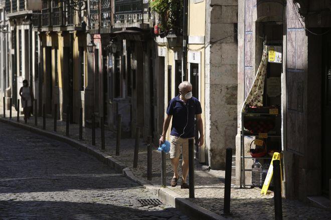 Εικόνα από τη Λισαβόνα σε καιρό κορονοϊού