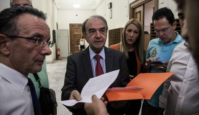 Ο Δημήτρης Τσοβόλας, συνήγορος υπεράσπισης του πρώην αναπληρωτή υπουργού, Δημήτρη Παπαγγελόπουλου