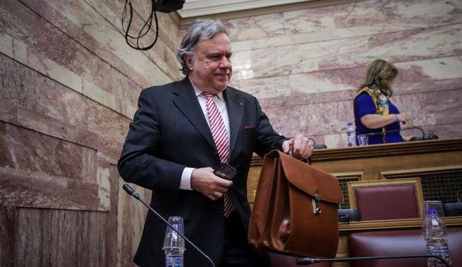 Ο Γιώργος Κατρούγκαλος, στην Επιτροπή Άμυνας και Εξωτερικών υποθέσεων της Βουλής στη συζήτηση για τη Συμφωνία των Πρεσπών