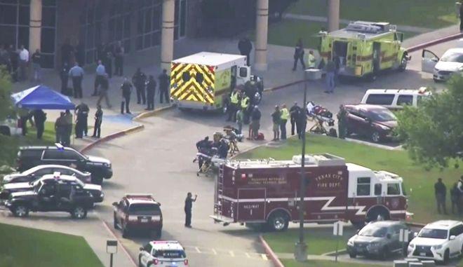 Το Santa Fe High School στο Τέξας, όπου ένοπλος άνοιξε πυρ