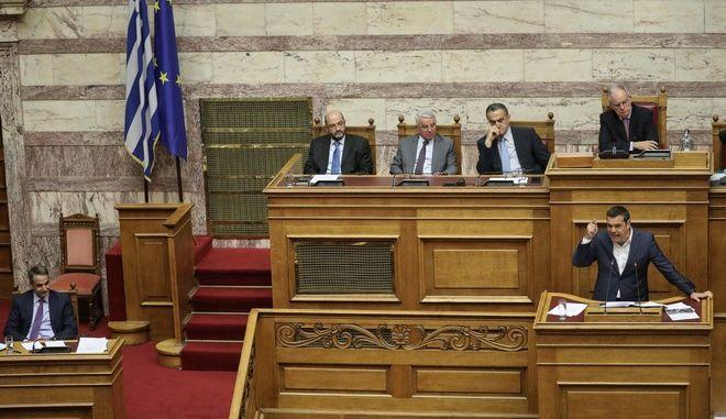Συνέχιση της συζήτησης και ψήφιση του σχεδίου νόμου του Υπουργού Επικρατείας «Επιτελικό Κράτος: Οργάνωση, λειτουργία και διαφάνεια της Κυβέρνησης, των Κυβερνητικών Οργάνων και της Κεντρικής Δημόσιας Διοίκησης»,  με ομιλίες των πολιτικών αρχηγών.