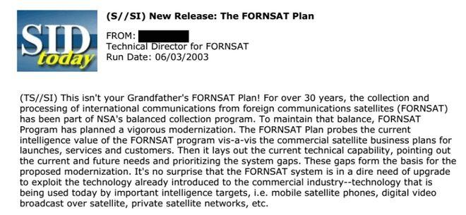 Σχέδιο FORNSAT: Έτσι μας παρακολουθεί η Αμερική εδώ και 30 χρόνια