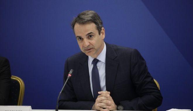 Ο πρόεδρος της Νέας Δημοκρατίας, Κυριάκος Μητσοτάκης προέδρευσε στη συνεδρίαση των Τομεαρχών, στα κεντρικά γραφεία του Κόμματος.Τρίτη 28 Μαρτίου 2017.(EUROKINISSI-ΠΑΝΑΓΟΠΟΥΛΟΣ ΓΙΑΝΝΗΣ)