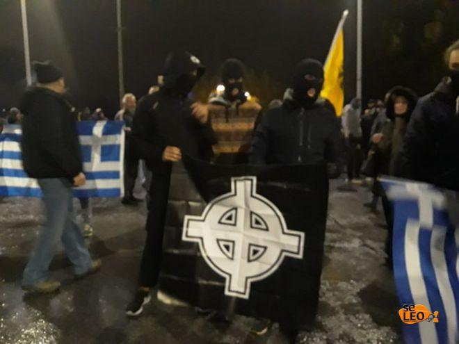 Θεσσαλονίκη: Εθνικιστικά σύμβολα και ναζιστικοί χαιρετισμοί στην αντι-συγκέντρωση
