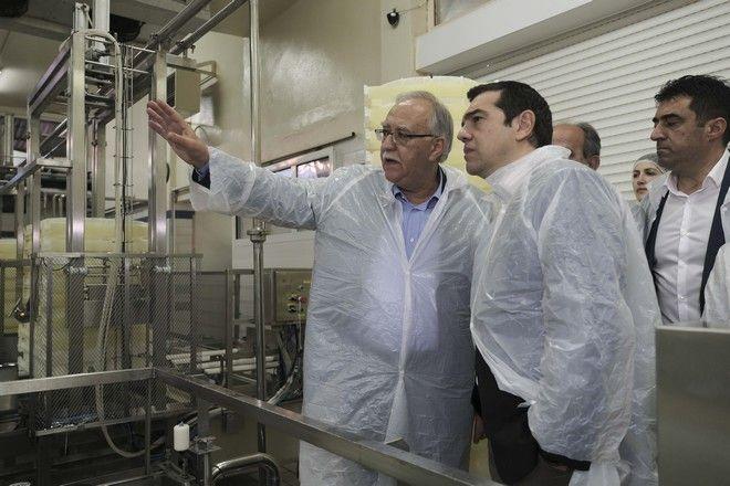 Στιγμιότυπο από την επίσκεψη του Πρωθυπουργού, Αλέξη Τσίπρα, στα Καλάβρυτα