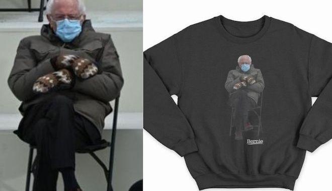 Μπέρνι Σάντερς: Πουλάει μπλουζάκια με την viral φωτογραφία του για καλό σκοπό