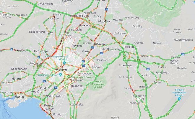 Κίνηση στους δρόμους: Μποτιλιάρισμα στον Κηφισό - Σε ποιους δρόμους σημειώνονται καθυστερήσεις