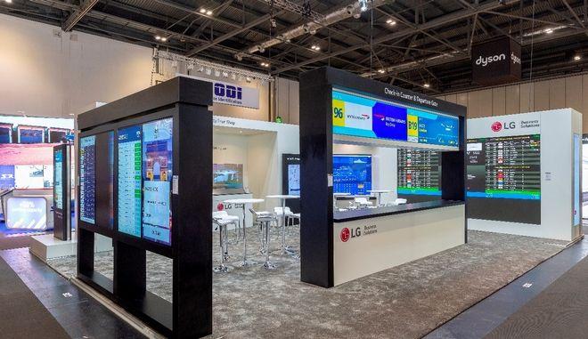 H LG παρουσίασε επαναστατικές οθόνες Information Display στην έκθεση Passenger Terminal EXPO
