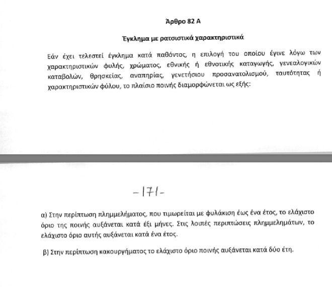 'Αρθρο 82: Έγκλημα με ρατσιστικά χαρακτηριστικά