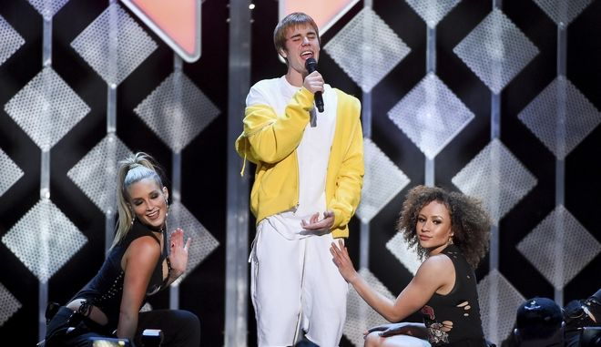 Justin Bieber performs at Z100's iHeartRadio Jingle Ball at Madison Square Garden on Friday, Dec. 9, 2016, in New York. (Photo by Evan Agostini/Invision/AP)