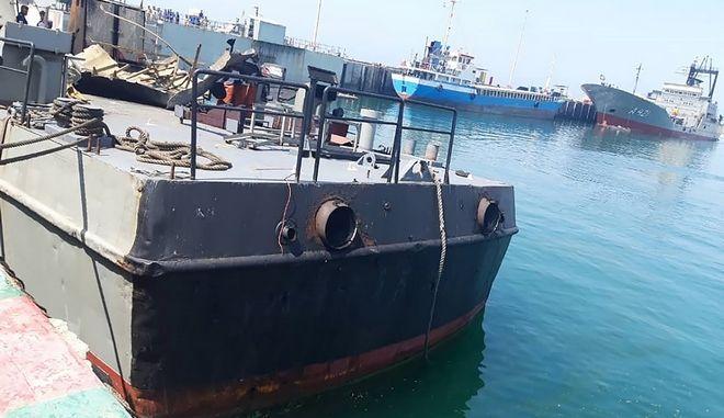 Το πλοίο που δέχθηκε τα πυρά