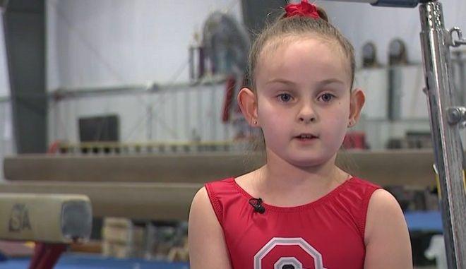 """""""Μπορείς να το ξεπεράσεις"""" - 8χρονη με αναπηρία διαγωνίζεται στην ενόργανη"""