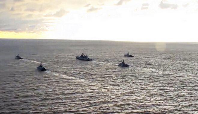 Ρωσικά σκάφη στη Μαύρη Θάλασσα. Φωτο αρχείου.