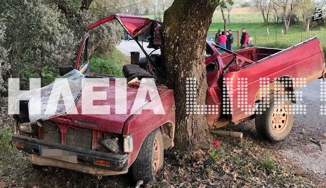 Τραγωδία στην Ηλεία. Νεκρός 25χρονος σε τροχαίο