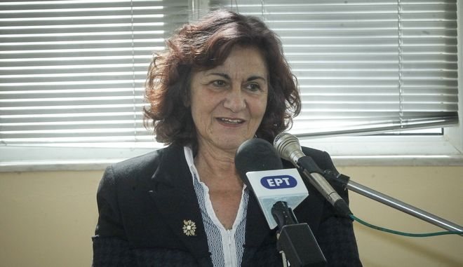 H αναπληρώτρια υπουργός Κοινωνικής Αλληλεγγύης Θεανώ Φωτίου