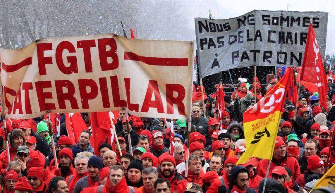 Χιλιάδες εργαζόμενοι διαδήλωσαν κατά της λιτότητας στις Βρυξέλλες