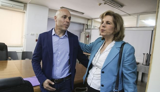 H Εύη Χριστοφιλοπούλου και ο Γιώργος Αμυράς